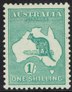 AUSTRALIA 1929 KANGAROO 1/- SMALL MULTI WMK