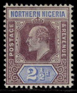 NORTHERN NIGERIA EDVII SG13, 2½d dull purple & ultramarine, M MINT.