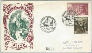 70887 - SPAIN - Postal History - Special  COVER 1960:  BOAT ship OLIVA