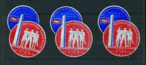 VINTAGE 1937 RETAIL GROCERS CONVENTION PATRIOTIC POSTER STAMPS (L913) BOSTON MA