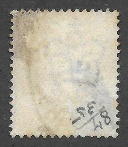 Doyle's_Stamps: Near GEM 1881 Salmon QV 1 Shilling Sct #87, Plt #13