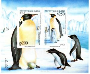 Chile 1992 Emperor Penguins s/s Perforated mnh.vf
