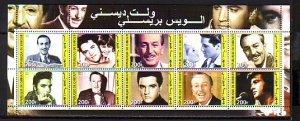 Djibouti, 2003 Cinderella. Elvis & W. Disney sheet of 10.