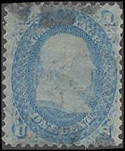 92 Used... PSE Cert... SCV $750.00... Very thin paper variety