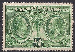Cayman Islands 1932 KGV 1/2d Kings Portraits MM SG 85 ( F1401 )