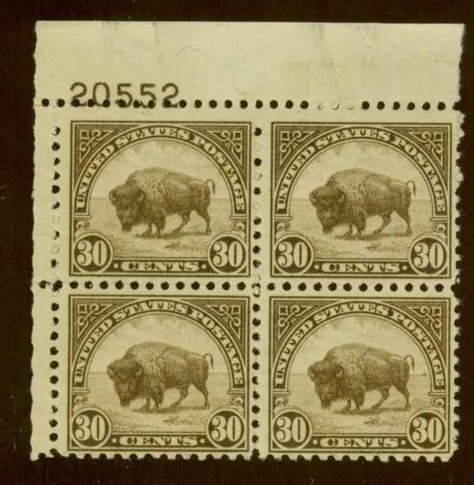 700 MINT Plate Block F-VF OG NH Cat$110