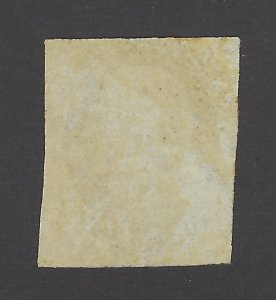 United States Scott 7 1¢ Benjamin Franklin Imperforate Used