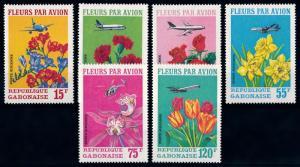 [64894] Gabon 1971 Flora Flowers Blumen Airmail Light Toned MNH