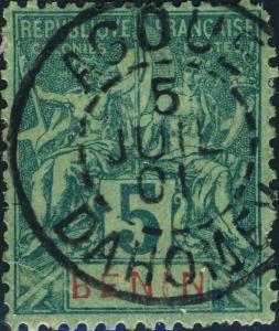 BÉNIN / DAHOMEY -  AGOUE / DAHOMEY  CàD du 5 juillet 1901 sur Yv.36