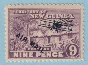 NEW GUINEA C8 AIRMAIL  MINT HINGED OG * NO FAULTS EXTRA FINE !