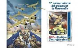 C A R - 2019 - Normandy Landings, WWII - Perf Souv Sheet  - M N H