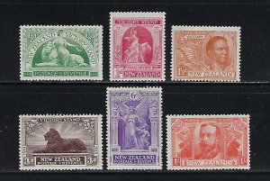 NEW ZEALAND SCOTT #165-170 1920 VICTORY ISSUE - MINT NEVER HINGED/HINGED