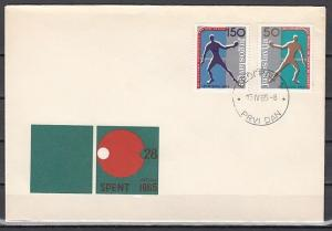 Yugoslavia, Scott cat. 759-760. Table Tennis issue on a First day cover. ^