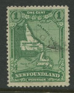 Newfoundland -Scott 145 -Pictorial Definitive Issue -1928 -Used-Single 1c Stamp