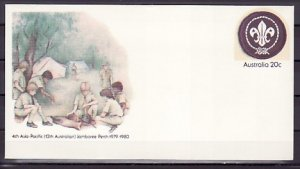 Australia, 1979 issue. 12th Scout Jamboree Postal Envelope. ^