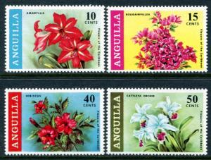 Anguilla 70-3 Mint NH 1969 Flowers. NO per item shipping
