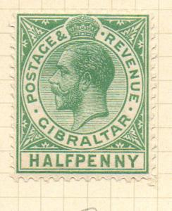 Gibraltar Sc 76 1928 1/2d green George V stamp mint