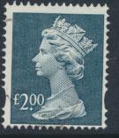 GB QE II Machin - SG Y1801   Used  £2 Dull Blue