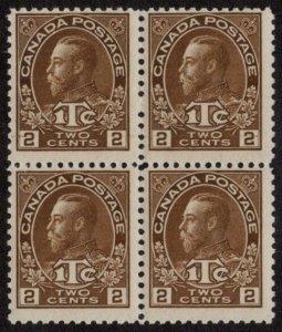 CAN SC #MR4 MNH B4 1916 2c + 1c War Tax Stamp CV $250.00