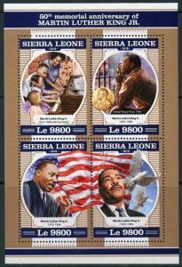 SIERRA LEONE 2018 50th MEMORIAL ANN  OF MARTIN LUTHER  KING, Jr  SHEET  MINT NH