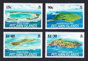 Pitcairn Islands of Pitcairn Group 4v SG#352-355 SC#327-330