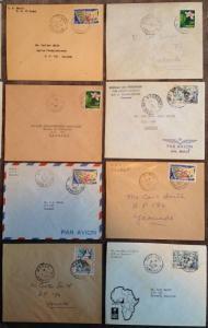 1960-61 LOT/21 Local Covers, CAMEROUN WEST AFRICA / YAOUNDE, Douala Makak MORE!