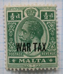 Malta sc#MR1 Mint MNH OG war tax stamp