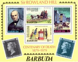 Barbuda MNH S/S 384a Sir Rowland Hill Centenary Of Death 1979