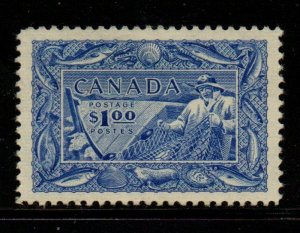 Canada Sc 302 1951 $1 Fishing Industry stamp mint