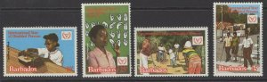 BARBADOS SG670/3 1981 INTERNATIONAL YEAR FOR DISABLED PERSONS MNH