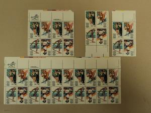 USPS Scott 2067-70 20c 1983 Winter Olympics Lot Of 4 Plat...