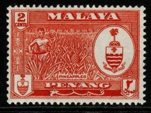 MALAYA PENANG SG56 1960 2c ORANGE-RED MNH