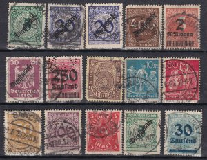 GE:  old REICH^^^^1920' x15  postally used ( good cancels )  $$@ dcc661ge6