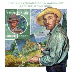 HERRICKSTAMP NEW ISSUES NIGER Van Gogh S/S