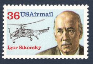 C119  Igor Sikorsky US Single Mint/nh Free Shipping