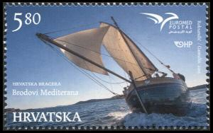 Croatia. 2015. PUMed – The Ships of the Mediaterranean Sea (MNH OG) Stamp