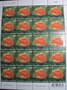 THAILAND STAMP -2004 -SC#2114-ROSE WITH IMPREGNATED WITH ROSE SCENT MNH SHEET