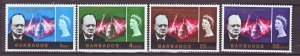 J22212 Jlstamps 1966 barbados set mh #281-4 churchill