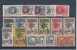Mauritania, 1-17, Various Designs Singles ,**Hinged/Used**