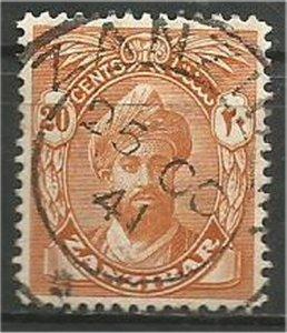 ZANZIBAR, 1936, used 20c, Harub. Scott 204