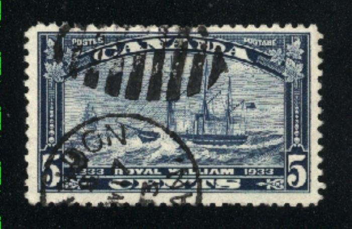 Canada #204   used   VF  PD