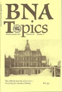 BNA Topics, Whole No. 493, Vol. 59, No. 4, Fourth Quarter...