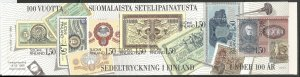 FINLAND  706  MNH,  COMPLETE BOOKLET, FINNISH BANKNOTE CENTENNIAL