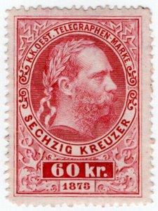 (I.B) Austria Telegraphs : State Telegram 60kr