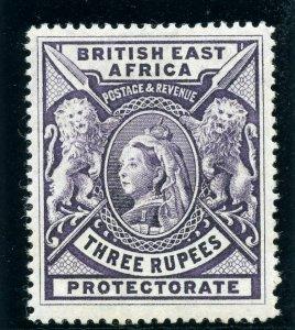 British East Africa 1897 QV 3r deep violet MLH. SG 94. Sc 104.