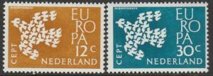 Netherlands, #387-388  MNH From 1961