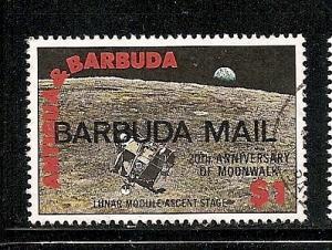 Barbuda  1990 Moonwalk overprint stamp used scott 1100