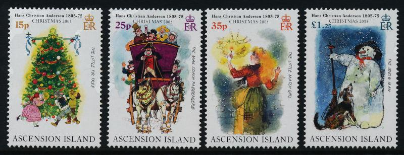 Ascension Island 882-5 MNH Christmas, Hans Christian Andersen, Horse