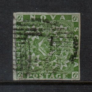 Nova Scotia #4 Very Fine Used With Four Big Margins - Pencil Markings On Back