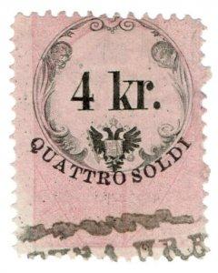 (I.B) Austria/Hungary Revenue : Stempelmarke 4kr (Lombardy-Venetia)